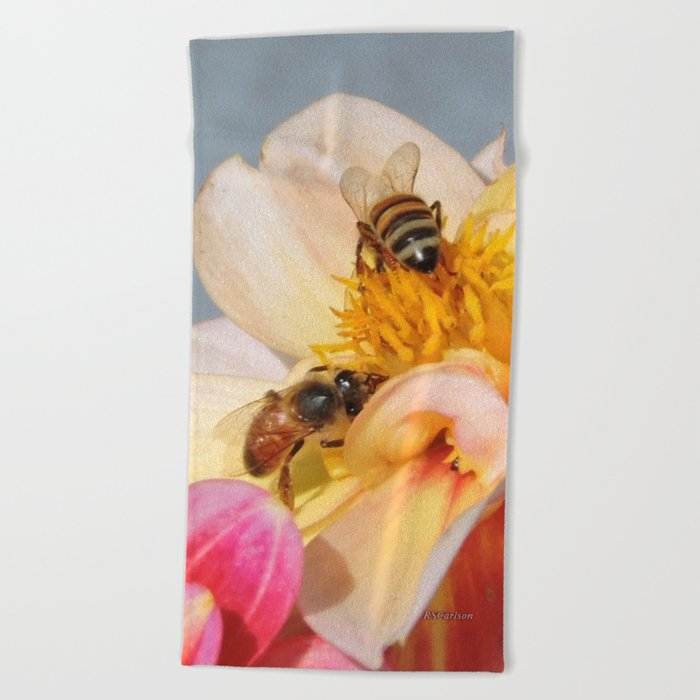 Honeybees at Work Beach Towel