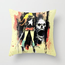 Grrl Scouts: Magic Socks 1 Throw Pillow