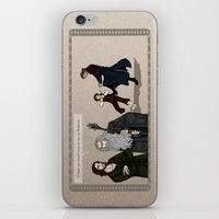 aragorn iPhone & iPod Skins featuring Sneaking Suspicion by wolfanita