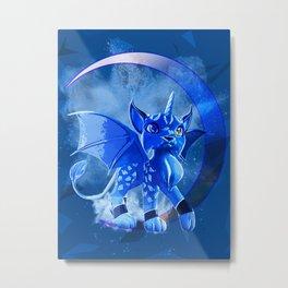 Vampire Cat Unicorn Metal Print