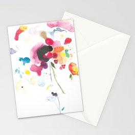 Abstract Bouquet Stationery Cards