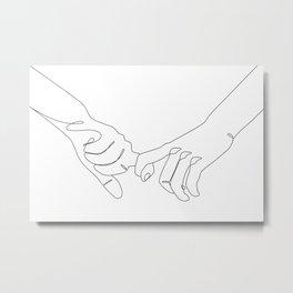 Lover's Hands Metal Print
