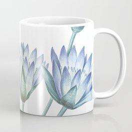 Water Lily Blue Coffee Mug