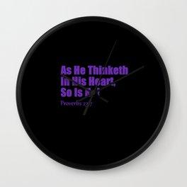 Proverbs Wall Clock