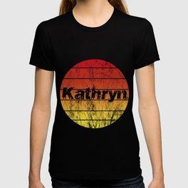 Name Kathryn Vintage Sunset Sun T-shirt