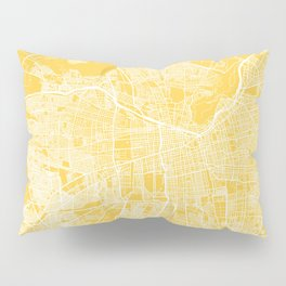 Santiago map yellow Pillow Sham