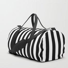 Small Vertical Black Stripes Duffle Bag