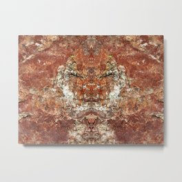 Silent Sage 0001 - Rock Face Buddha Metal Print