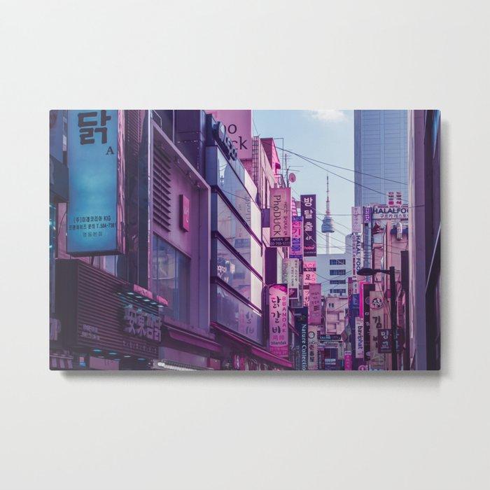 Seoul - Anime World Metal Print