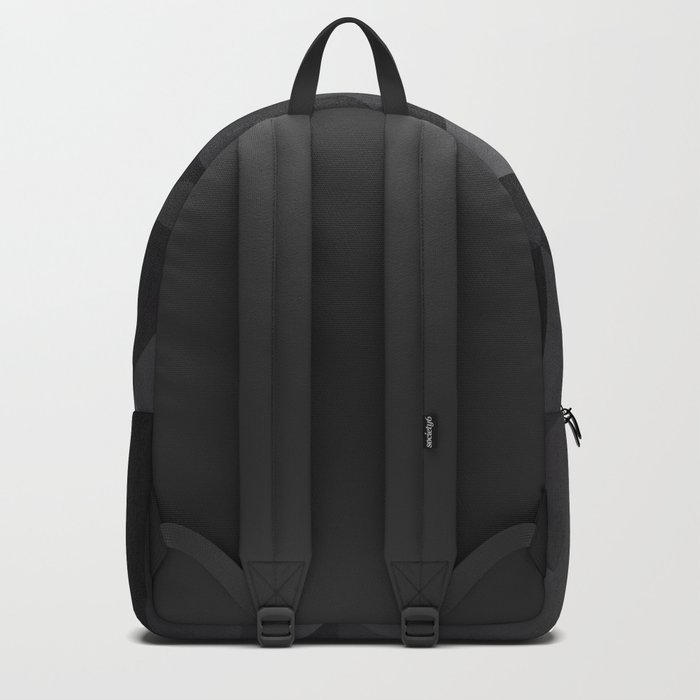 Abstract of triangles polygo in black colors Backpack