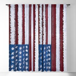 Exploding Flag Blackout Curtain