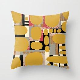 Graphic Mustard Throw Pillow