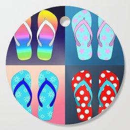 Flip Flop Pop Art Cutting Board