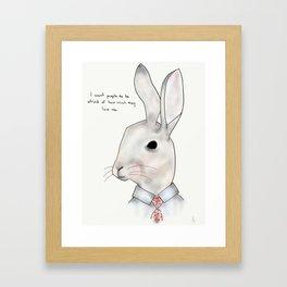 jimmy rabbit Framed Art Print