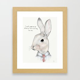 jimmy rabbit Framed Art Print