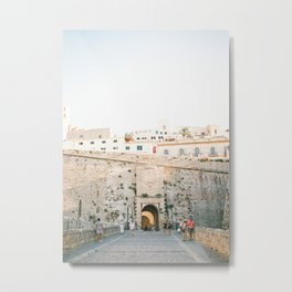 "Travel photography ""Entrance Eivissa Ibiza"" | Printable photo art Spain Metal Print"