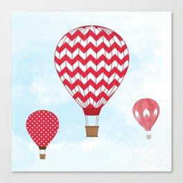 Red Hot Air Balloons Canvas Print