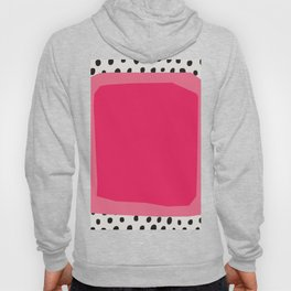 mid century abstract dots - pink drawing - Mid century modern, mid century wall art, mid century art Hoody