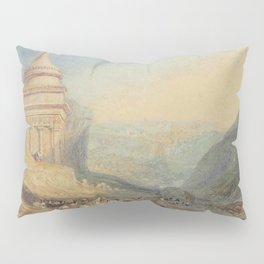 """J.M.W. Turner """"The Valley of the Brook at Kidron, Jerusalem (Absalom's Tomb)"""" Pillow Sham"""