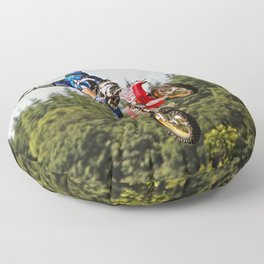Motocross stuntman Floor Pillow
