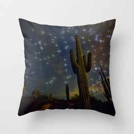 A Starry Desert Evening Throw Pillow