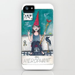 The Solipsist Tarot | V - The Hierophant iPhone Case