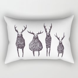 4 Chevreuils de nuit Rectangular Pillow