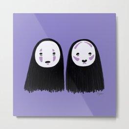 No-face Contour Metal Print