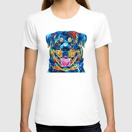 Colorful Rottie Art - Rottweiler by Sharon Cummings T-shirt