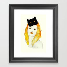 Be a cat Framed Art Print