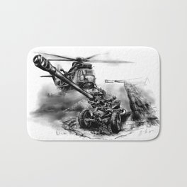 Artillery and Helicopter Bath Mat