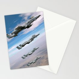 BEAUTIFUL AIRPLANE FORMATION Stationery Cards