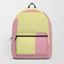 Pastel Yellow And Pink Squares Backpack