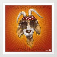 rockabilly Art Prints featuring Rockabilly by Chip David
