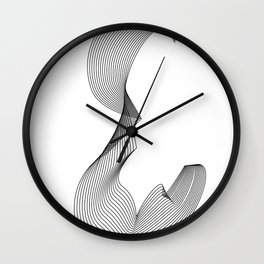 """""""Linear Collection"""" - Minimal Letter E Print Wall Clock"""