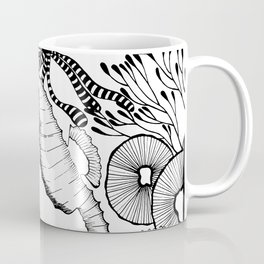 Coral reef black and white Coffee Mug