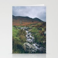 cassia beck Stationery Cards featuring Cinnerdale Beck with Whiteless Pike beyond. Lake District, UK. by liamgrantfoto