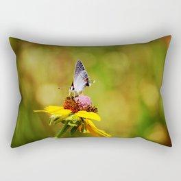 Brown Eyed Susan & Hairstreak Butterfly Rectangular Pillow