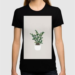 Minimal Art - Indoor Plant, ZZ Plant T-shirt