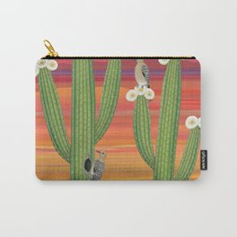gila woodpeckers on saguaro cactus Carry-All Pouch