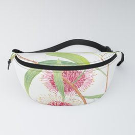Pincushion Hakea (Hakea Laurina) watercolour; Australian flower Fanny Pack