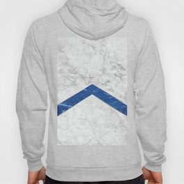 Arrows - White Marble & Blue Granite #184 Hoody