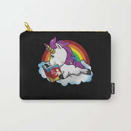 Unicorn Reading Book On Cloud Carry-All Pouch