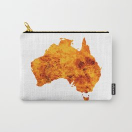 Australia Map With Flames Background Carry-All Pouch