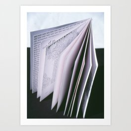E-zine writing poetry Art Print