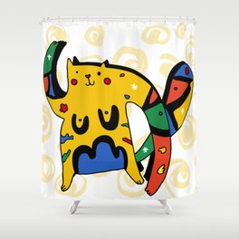 Joan Miro's Cat Shower Curtain