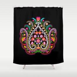 folk damask Shower Curtain