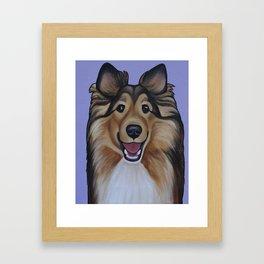 """Rough Collie """"Lassie"""" Portrait Framed Art Print"""