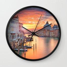 VENICE AT SUNRISE Wall Clock