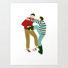 Boot Pull Art Print